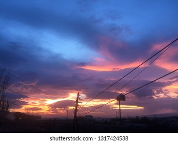sky clouds sunset - Shutterstock ID 1317424538