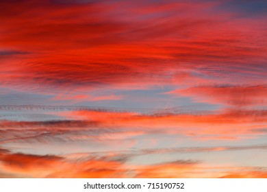 Sky with clouds at sunset.