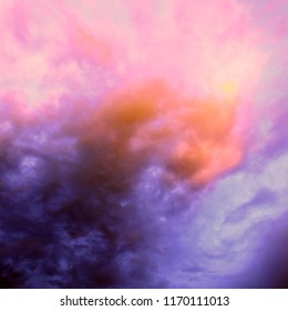 Sky and clouds at sunset, the color mixed is fantastic