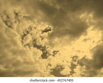 sky with clouds texture useful as a background vintage sepia