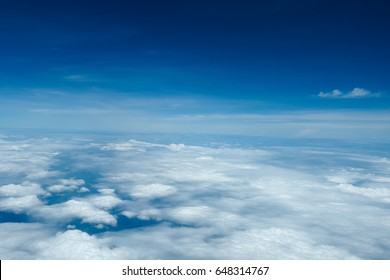 Sky and clouds viewed from the airplane