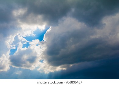 sky dark and storm clouds before rain in summer with copy space add text