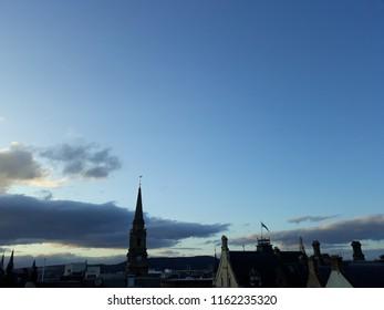 Sky in Edinburg