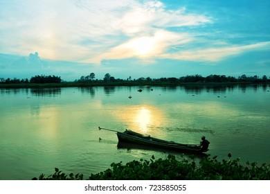 Sky fisherman cloud over the Chao Phraya River.