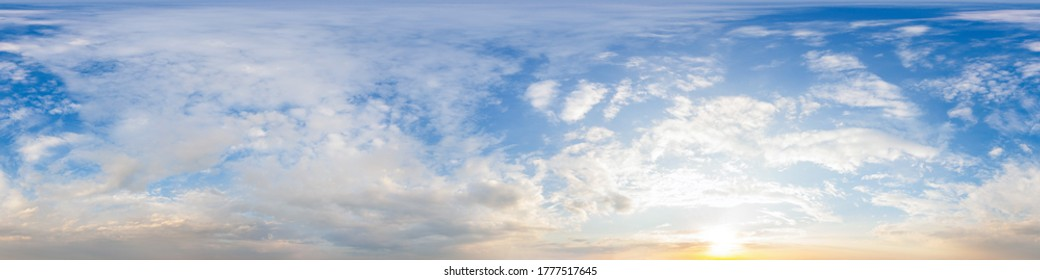 Sky hemisphere. Dome photo of sky for your 360° VR photography or video