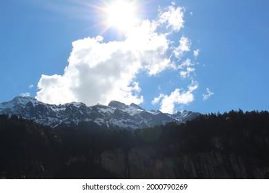 Sky in Jung Frau Joch in Switzerland - Shutterstock ID 2000790269