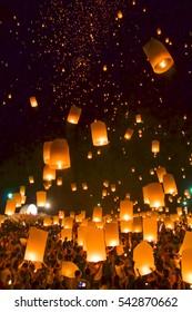 Sky Lantern Festival, Chiang mai, Thailand