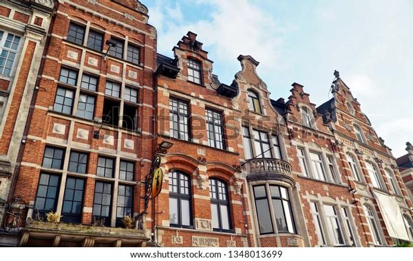 Sky line at Oude Markt in Leuven