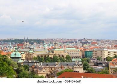 Sky line of Praha in The Czech Republic