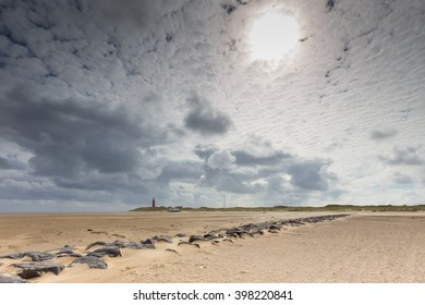 sky and low tide