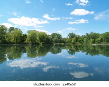 The sky mirroring in the lake