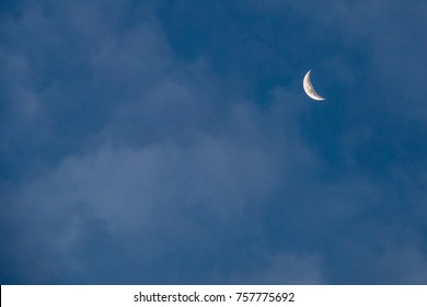 The sky and the moon