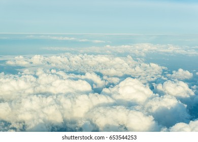 Sky with morning cloud atmosphere background