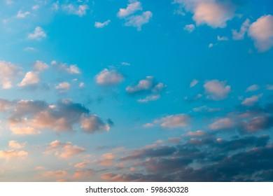 Sky Nature Background in Sunrise/ Dawn