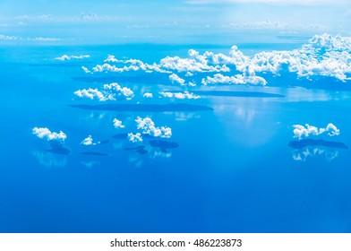 Sky Ocean and Clouds