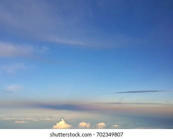 Sky on airplane