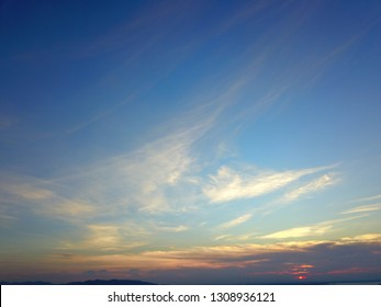 Sky on evening time at  southern Thailand background.