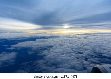 Sky on plane