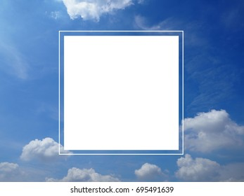sky on a white background.Nature concept.