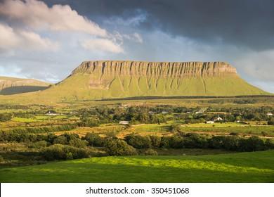 Sky over the mountain Benbulbin in Sligo, Ireland