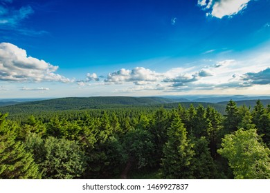 Sky over the Thuringian forest I