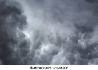 The sky overcast before rainny