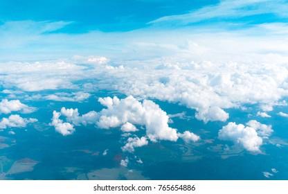 Sky from a Plane Heavens Below