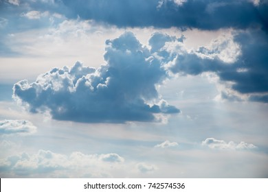 Sky scape with light and cloud