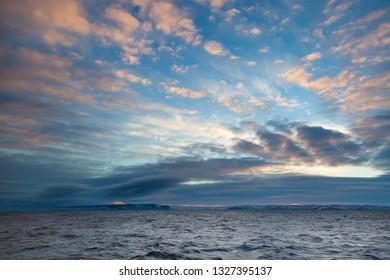 Sky and Sea Laptevs near Bennett Island