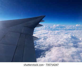 Sky seen from an airplane