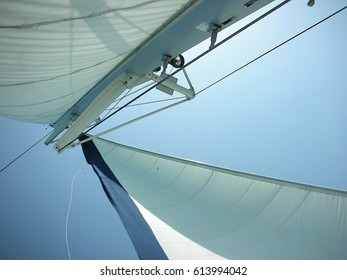 The sky seen from a sailing boat