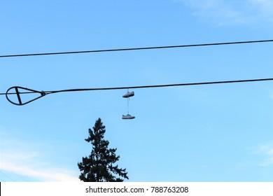 sky and shoe