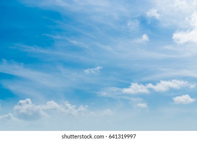 The sky is a small cloud floating in the sky.