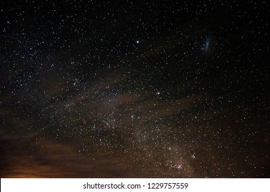 Sky with stars and abduction