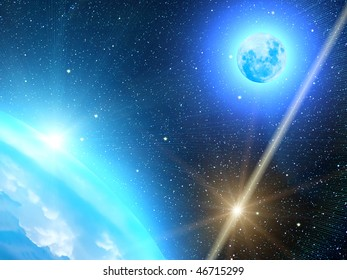 Sky  stars sun