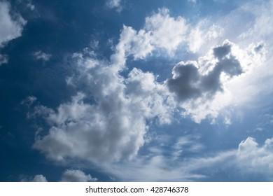 Sky sunny day ,noon summer.