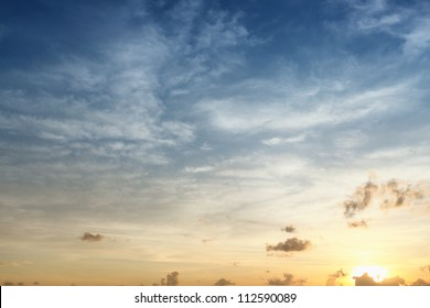 sky in sunrise