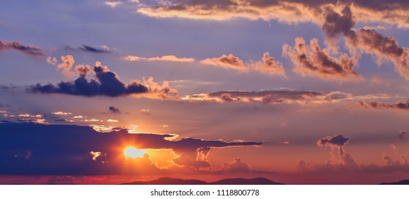 Sky at sunrise or sunset background.