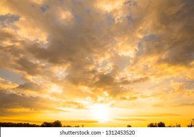 sky sunset for background design