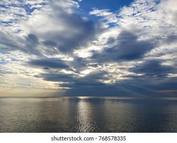 sky sunset, evening sky,dark sky and sea vew
