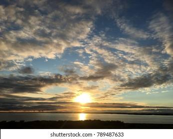 sky sunset shiny