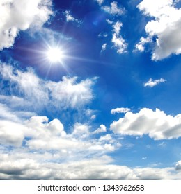 Sky : texture background, pattern, wallpaper. Cirrocumulus and Cumulus clouds that mean nice weather: There are still quite high clouds and they are not raining.