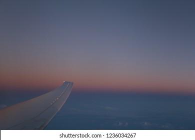 Sky thru plane view