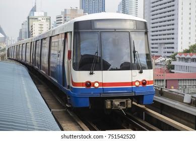 The sky train in bangkok