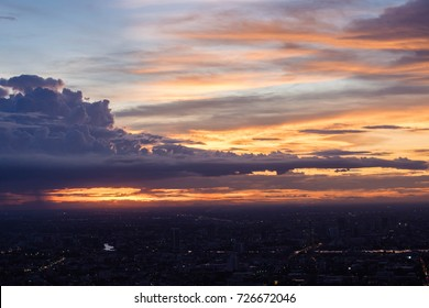 sky at twilight time or sunset time