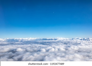Sky view with clounds from above. Nature background