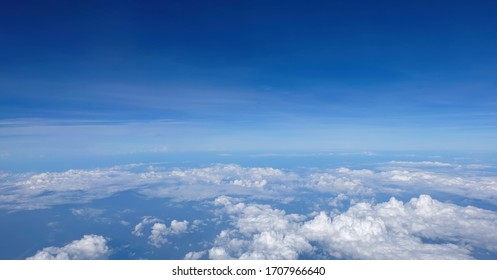 Sky view from a high angle on the plane.