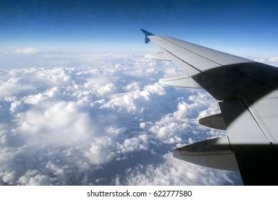 Sky view on plane
