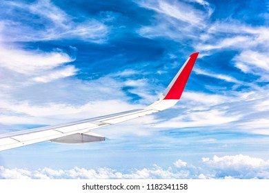 Sky and view from plane