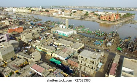 Sky View of Saint-Louis in Senegal